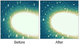 Comet (before and after)